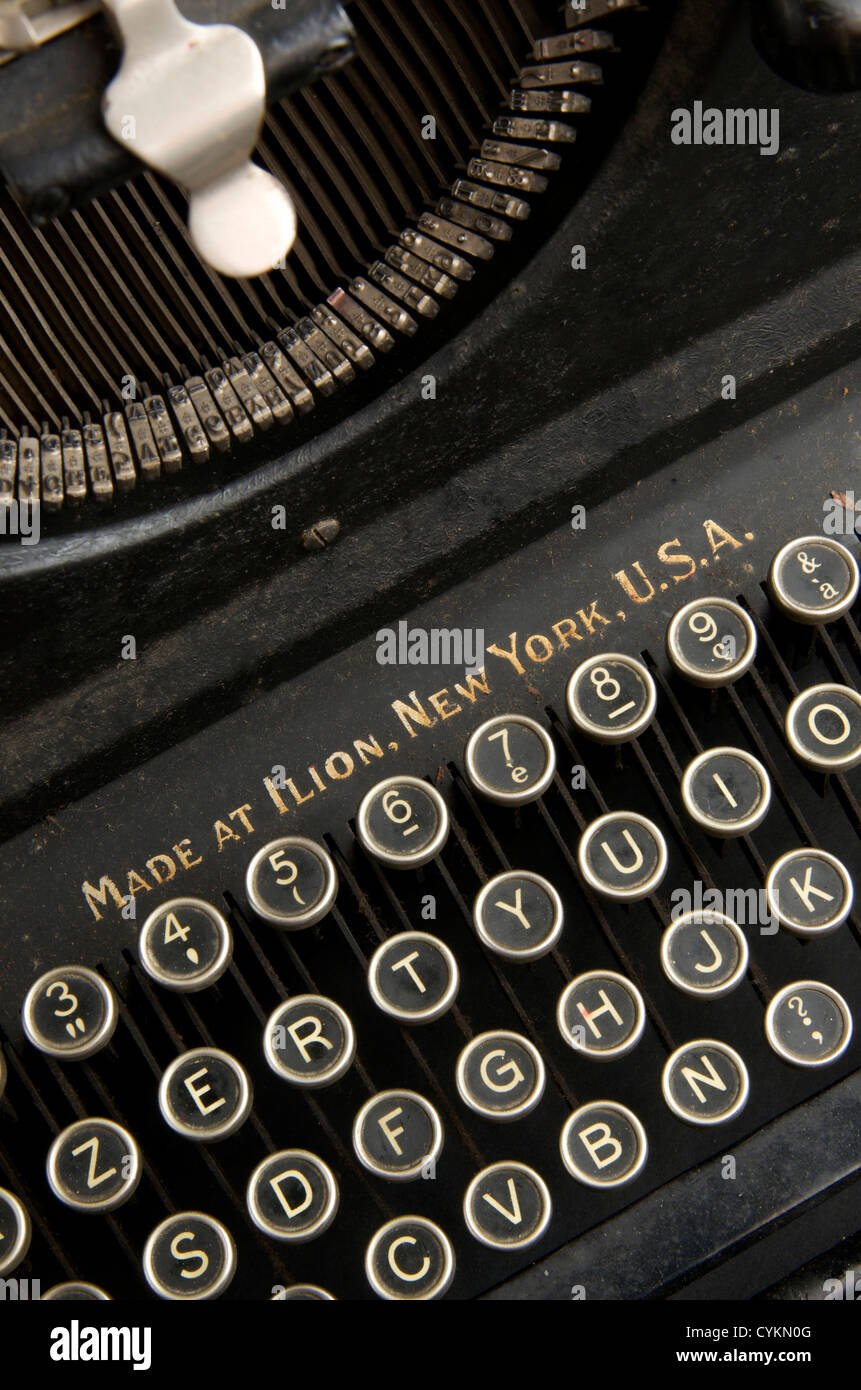 Old Remington antique retro typewriter - Stock Image