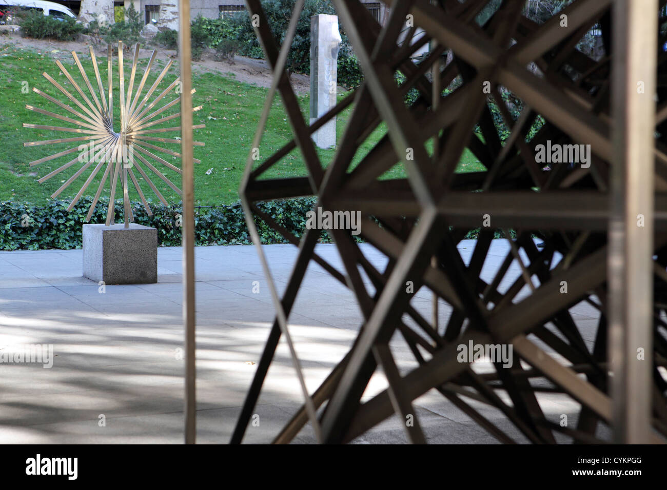 Museum Public Art With Abstract Sculptures By Spanish