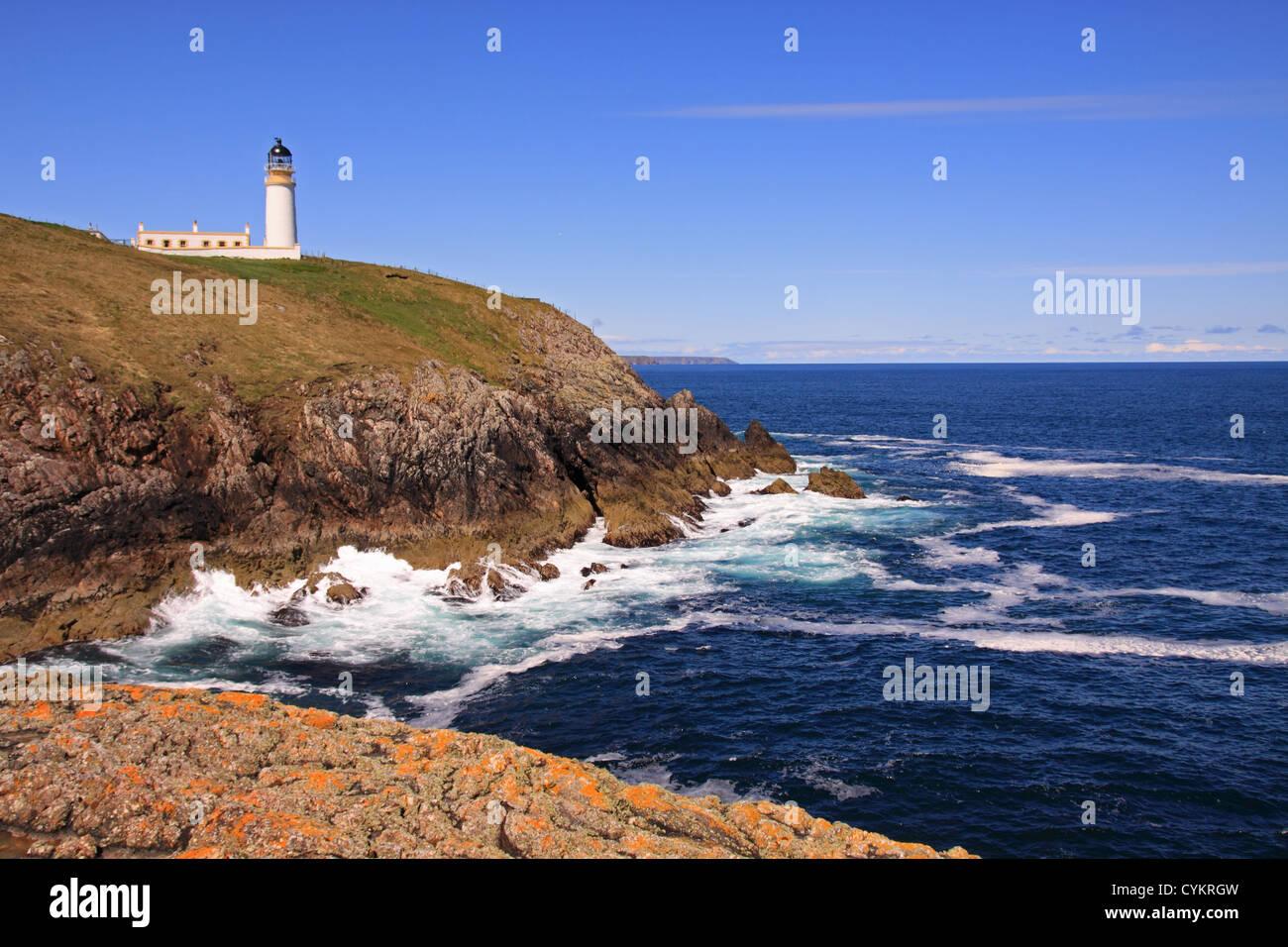 UK Scotland Highland Isle of lewis Eye peninsula Tiumpan Head Lighthouse - Stock Image