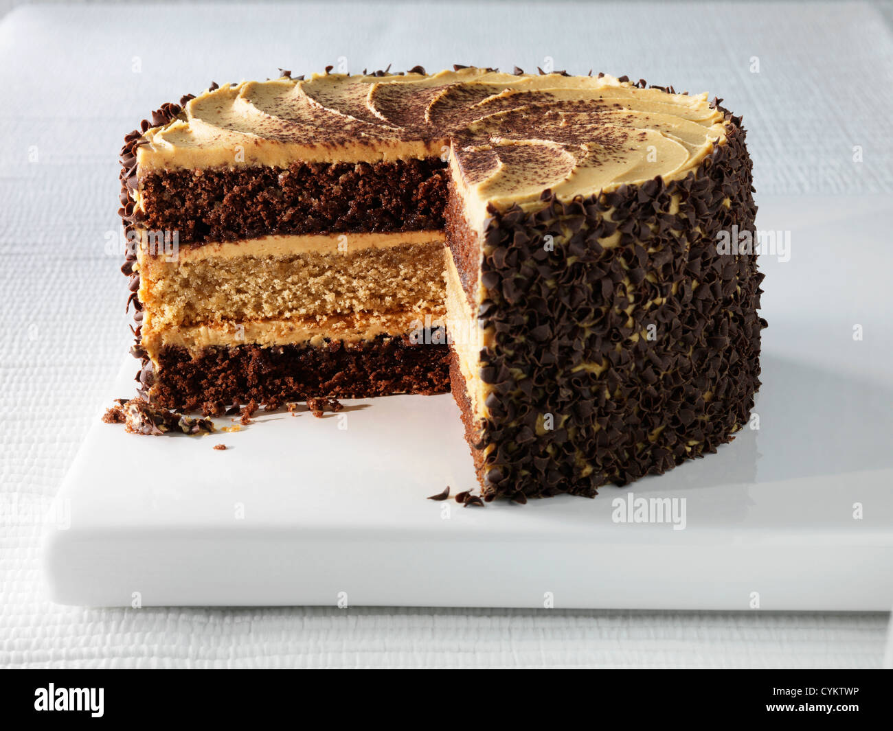 Plate Of Cappuccino Layer Cake