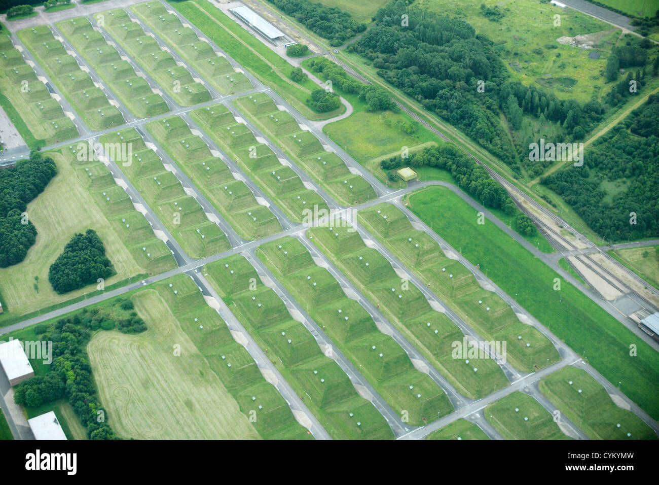 Aerial view of rural fields - Stock Image