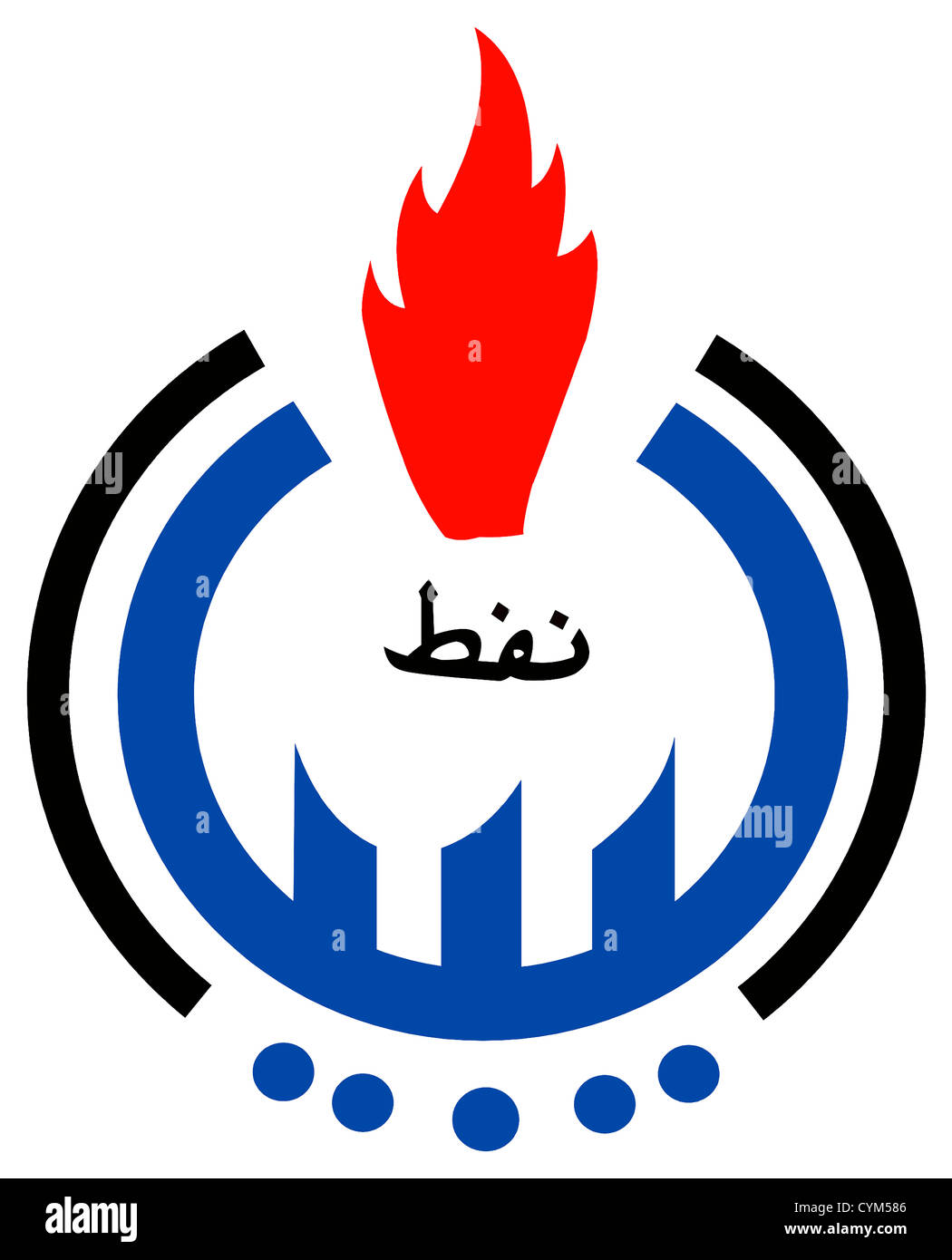Logo of Libyan oil company National Oil Corporation NOC with enterprise seat in Tripoli. - Stock Image