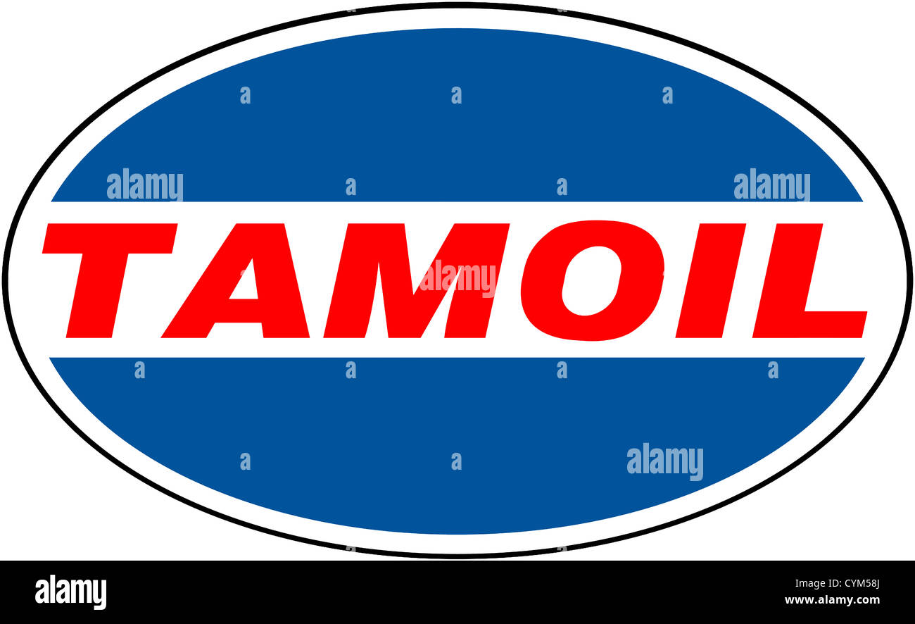 Logo of Libyan oil company Tamoil. - Stock Image