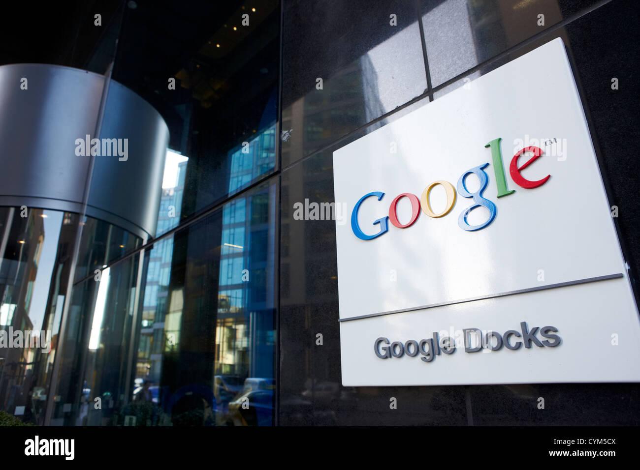 google emea eu hq offices google docks dublin republic of ireland - Stock Image