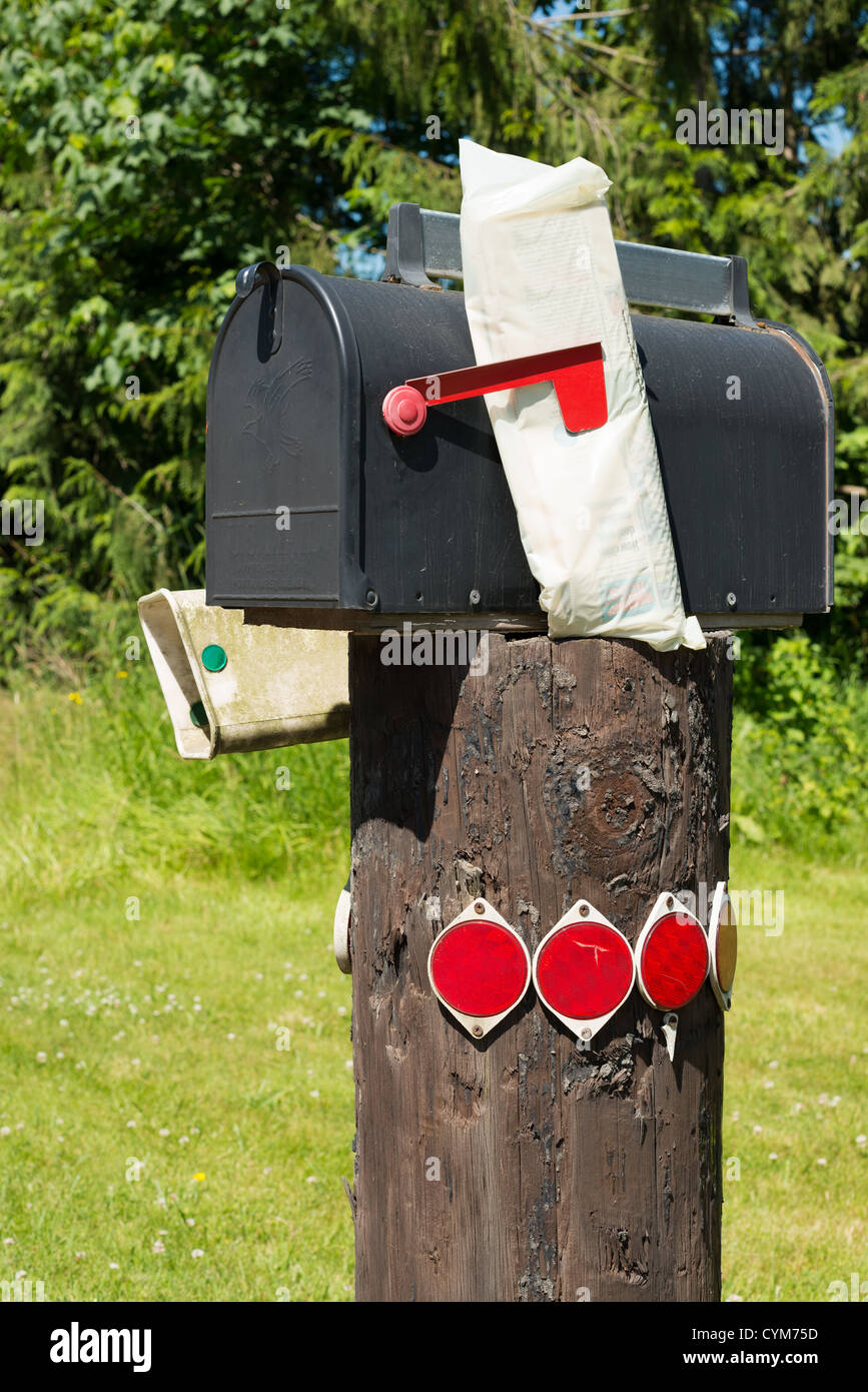 Mailbox at Washington State, USA - Stock Image