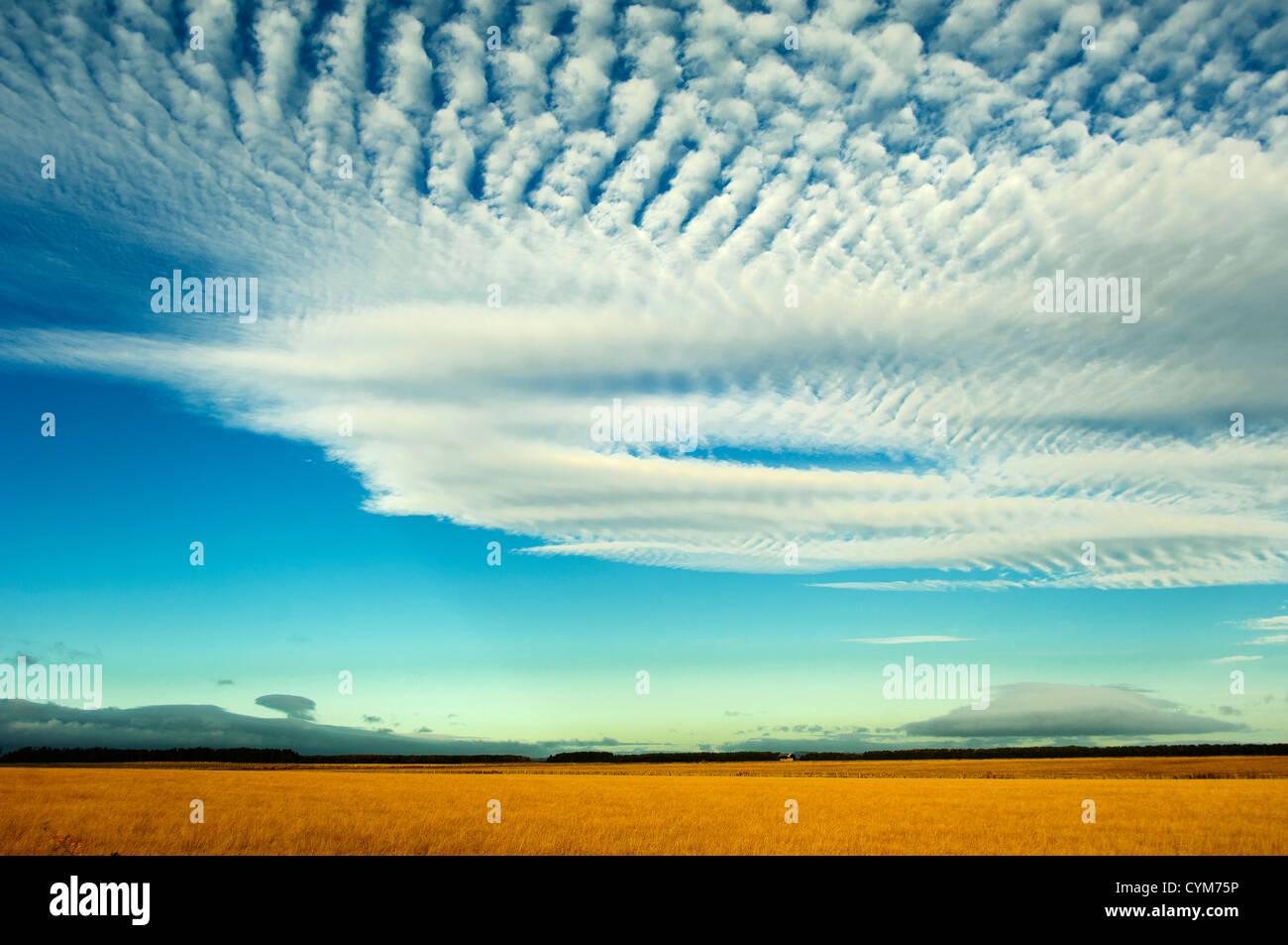 Cirro Stratus clouds Stock Photo
