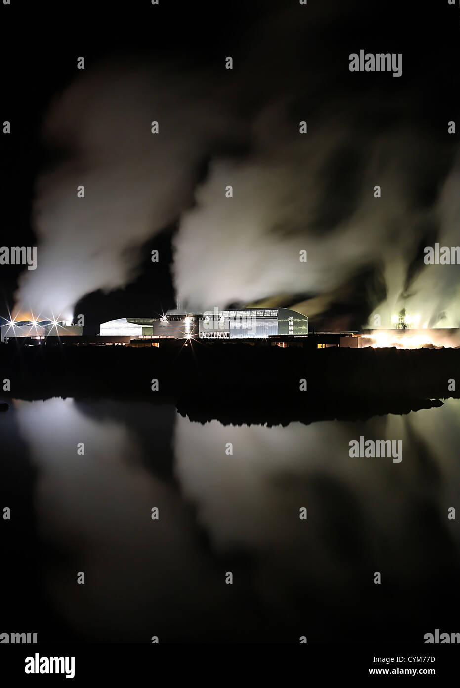geothermal power - Stock Image