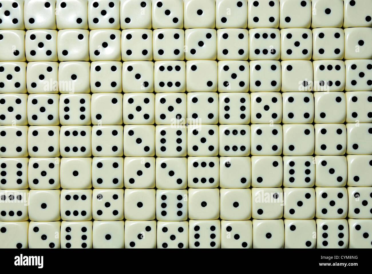 Dice - random numbers - Stock Image