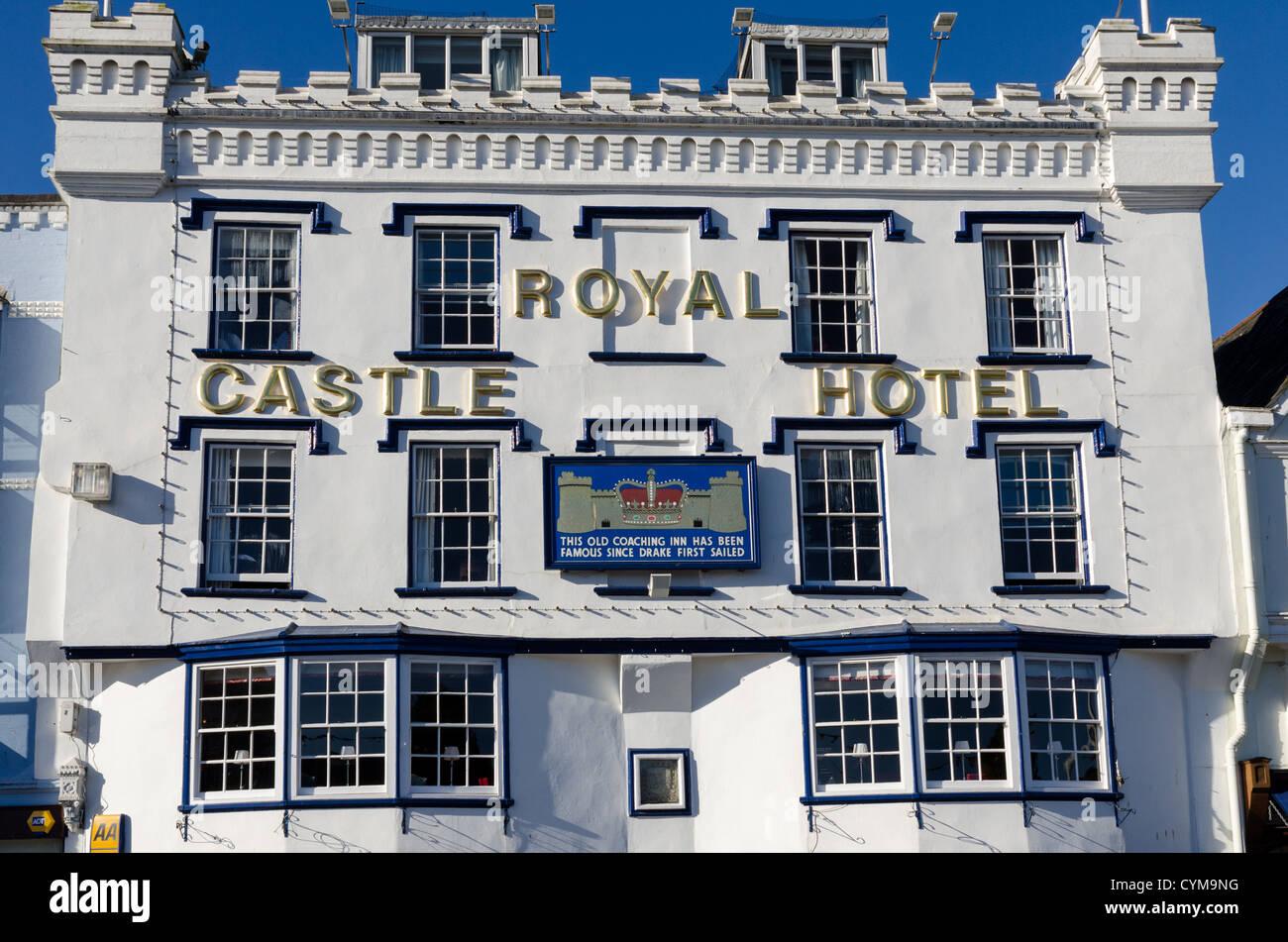Royal Castle Hotel in Dartmouth, South Devon Stock Photo