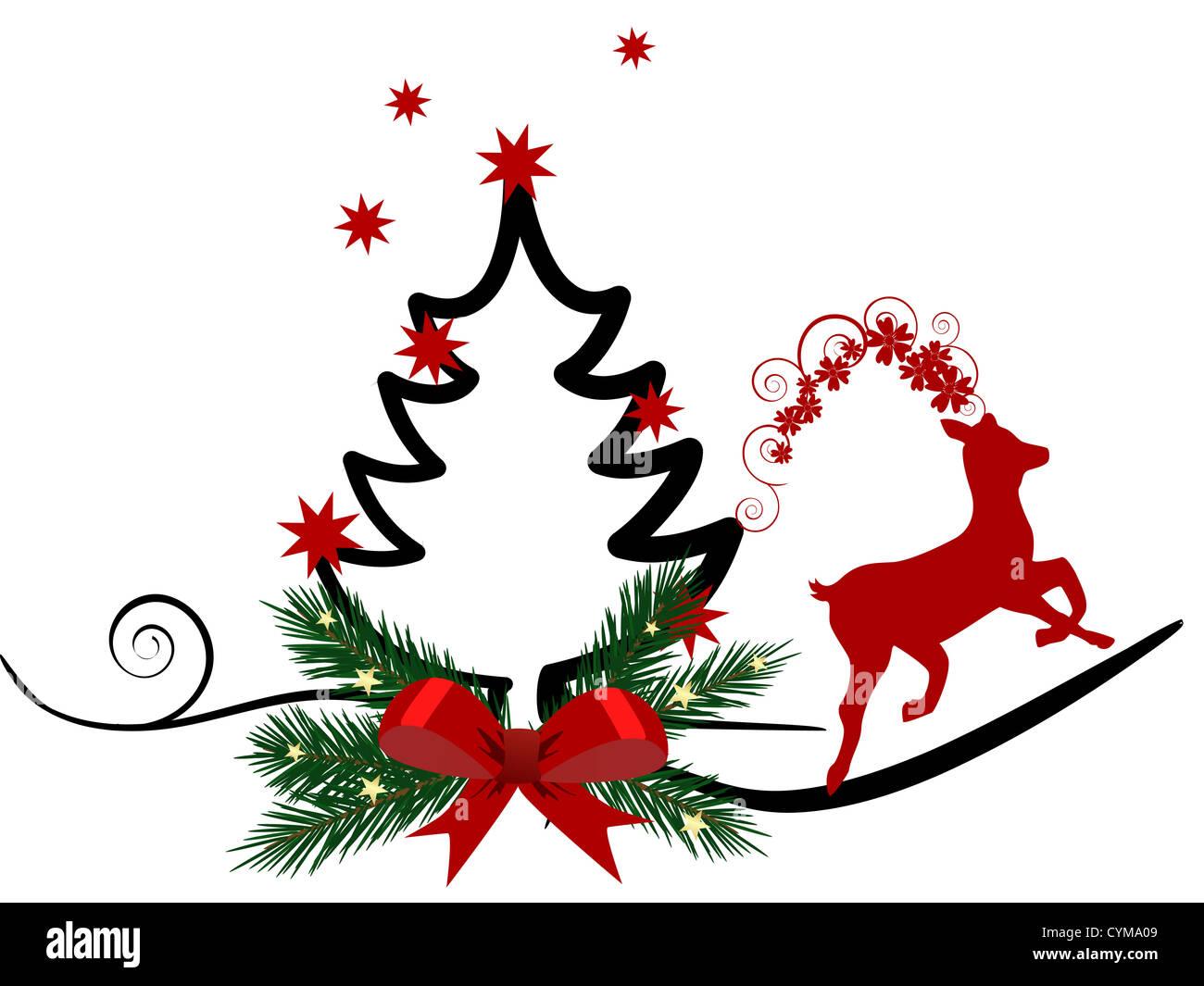 Christmas card - Stock Image