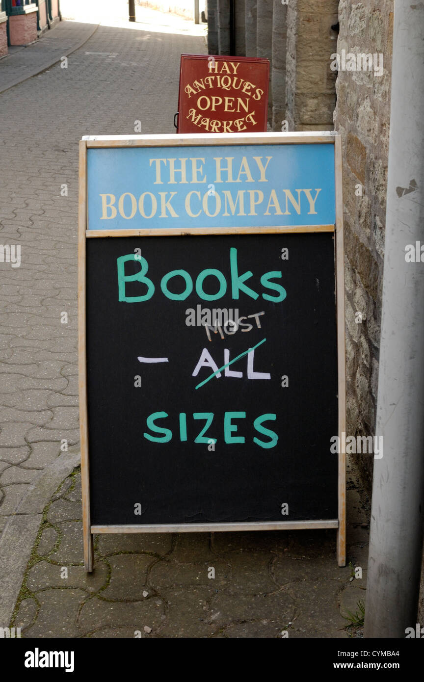 Books most sizes sign - Stock Image
