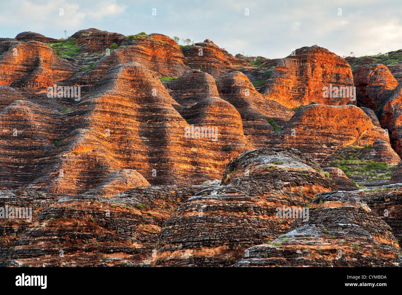 The Beehive Domes of the Bungle Bungle Range. - Stock Image