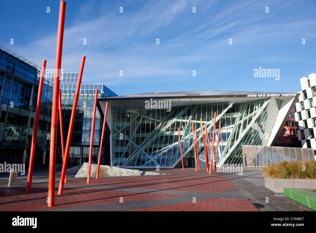 bord gais energy theatre docklands grand canal quay dublin republic of ireland - Stock Image