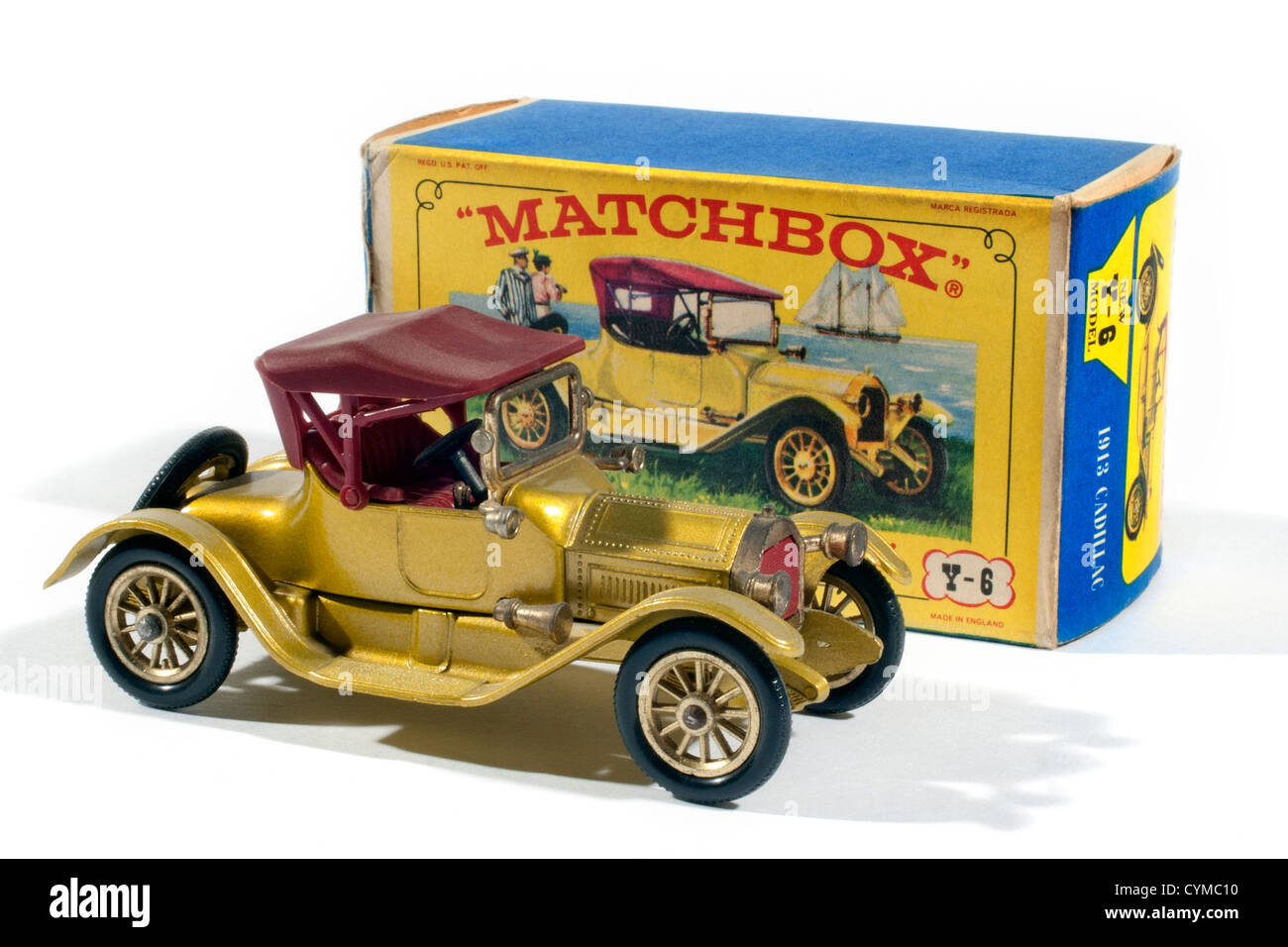 Y6 Matchbox Models of Yesteryear 1913 Cadillac produced by Lesney in 1968 Stock Photo