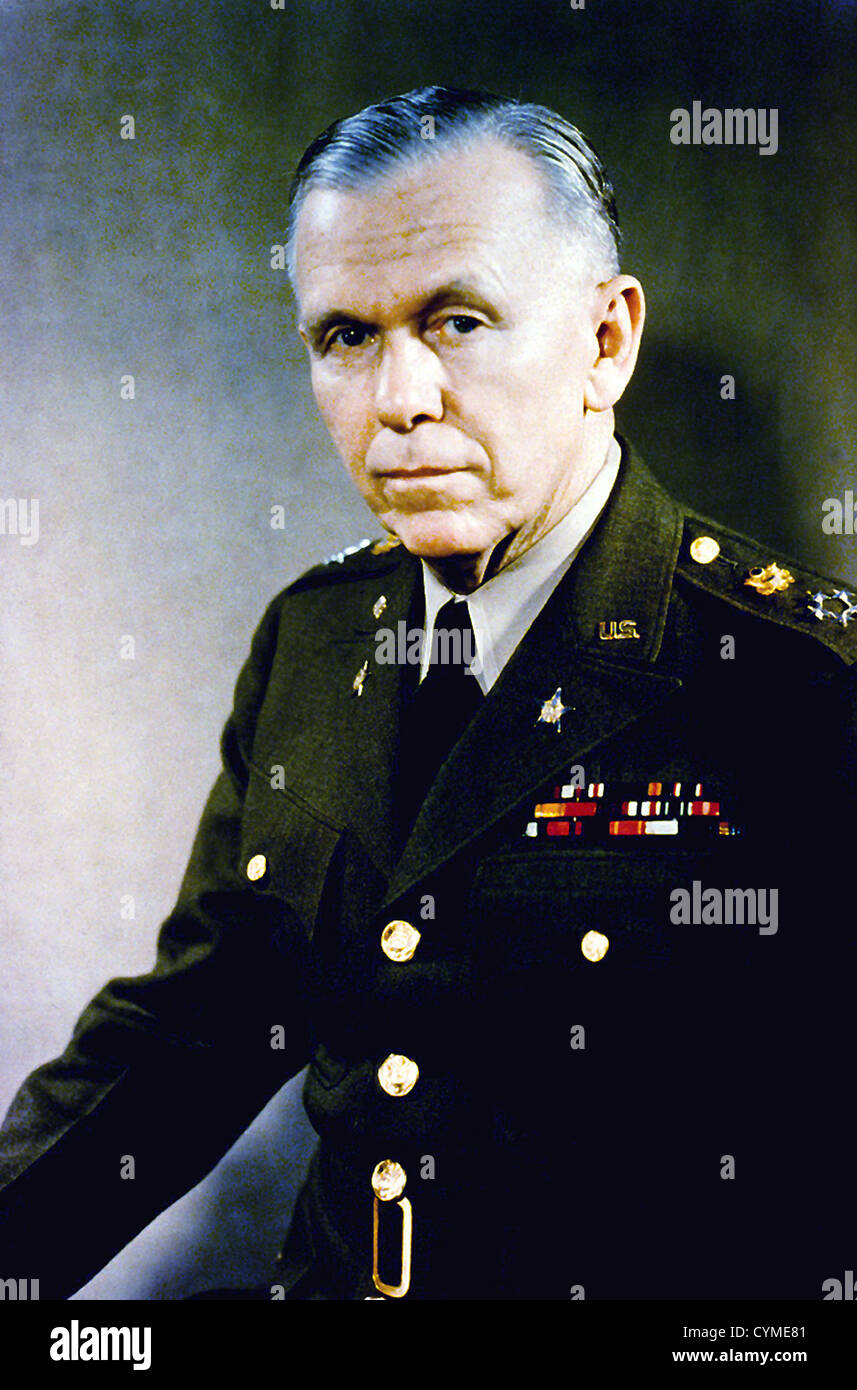 GEORGE C. MARSHALL (1880-1959) US military leader here as General of the Army in 1946 - Stock Image