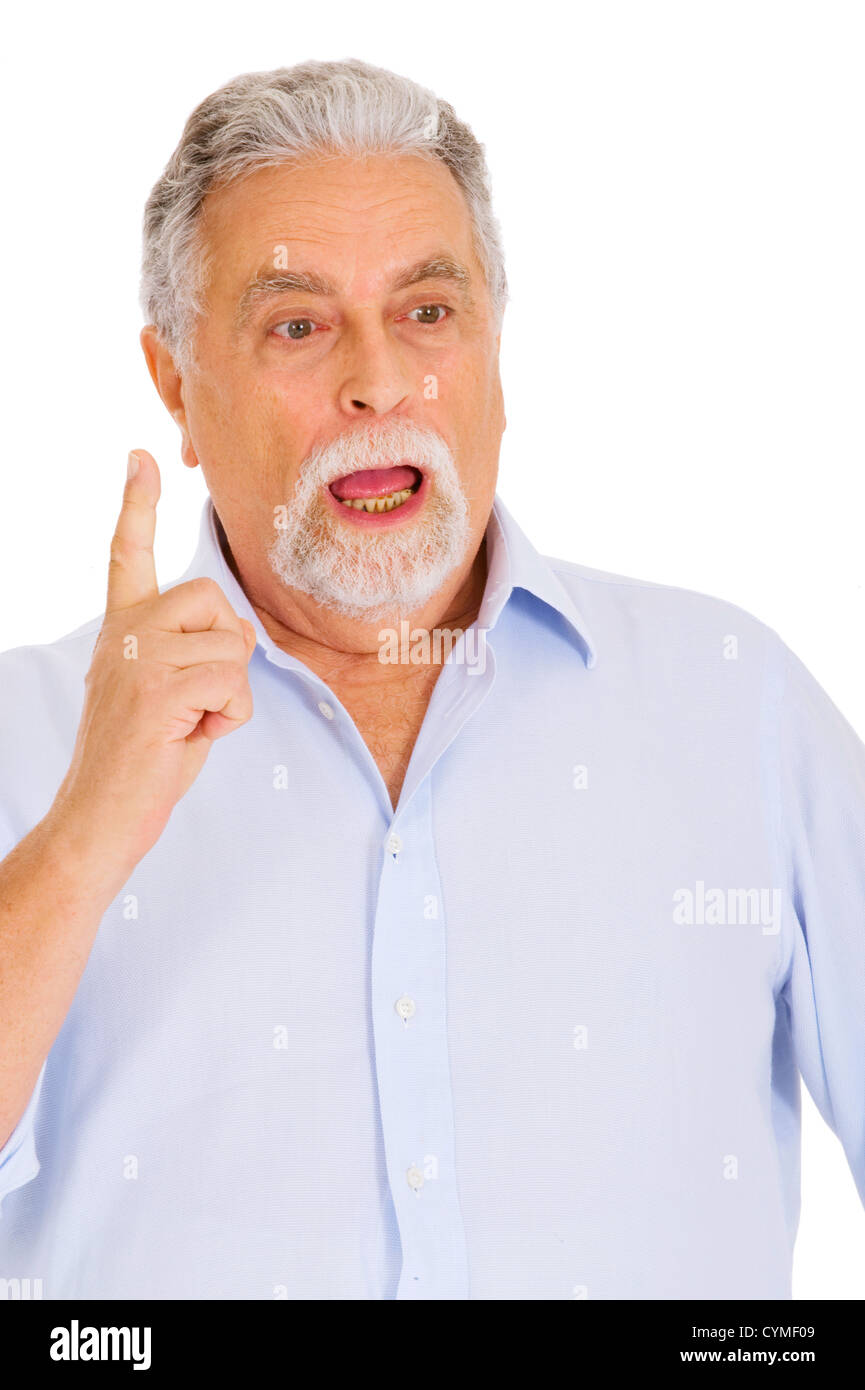 old man stunned - Stock Image