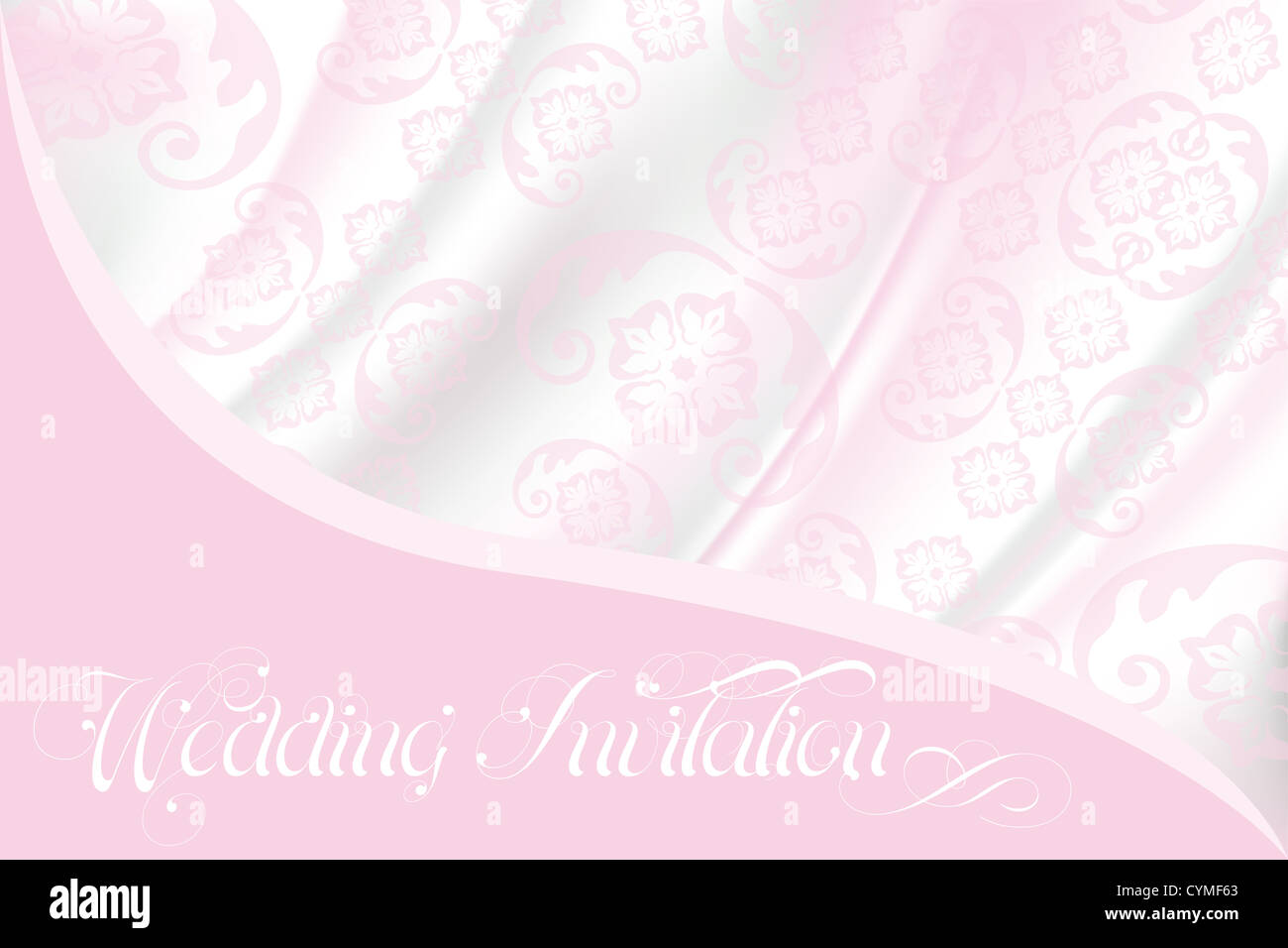 Wedding invitation with lace background, light pink ornamental ...