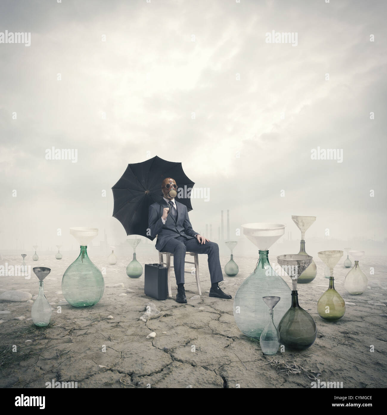 concept of global warming: Environmental Damage - Stock Image