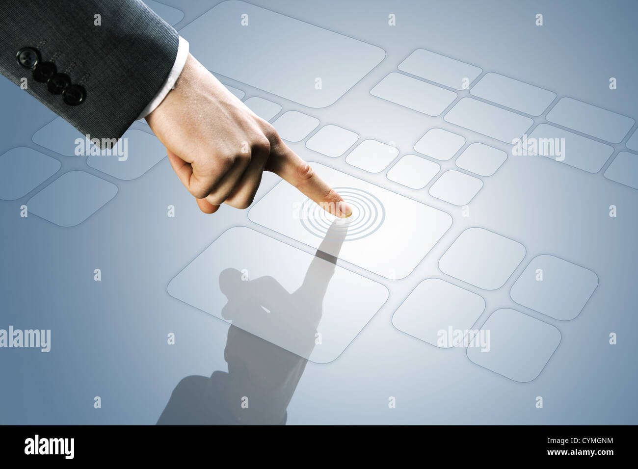 futuristic display:  touchscreen interface - Stock Image
