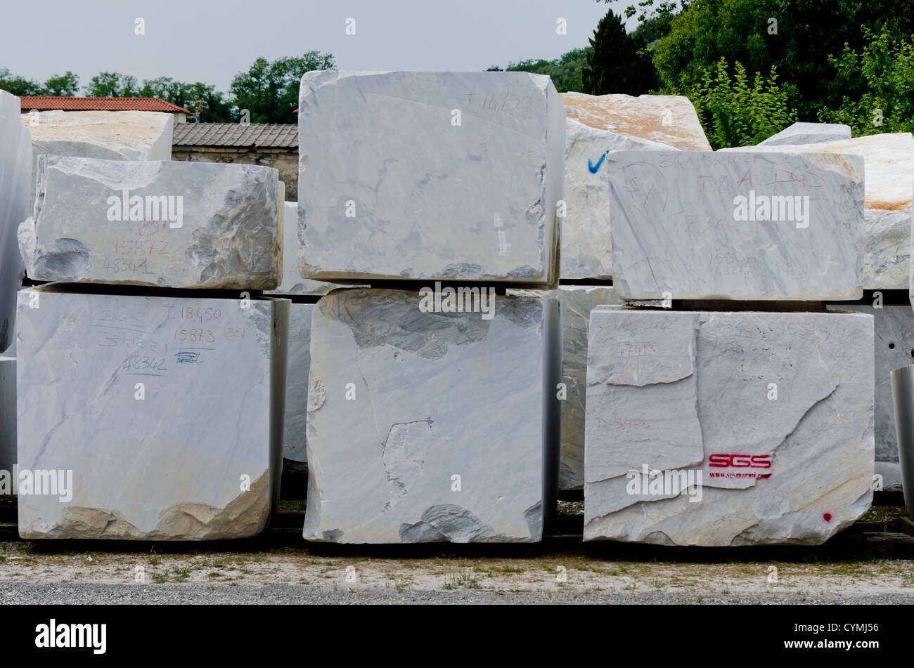 White Marble Block : White marble blocks stock photos