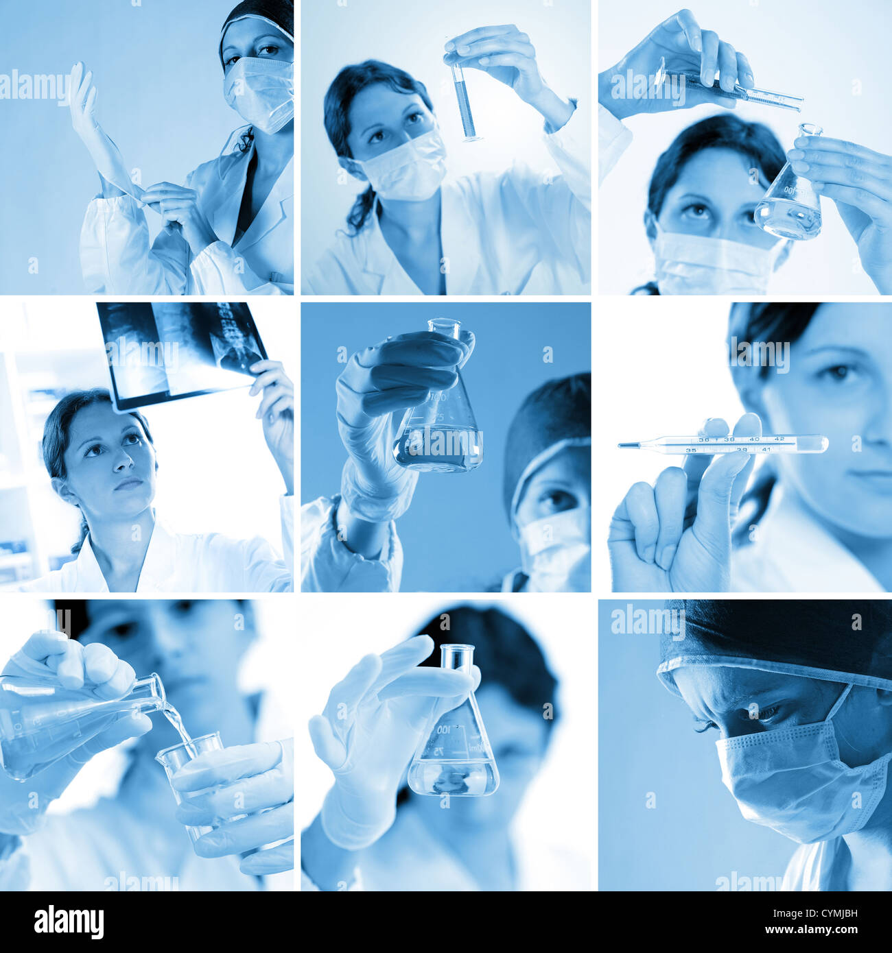 composition of medical images - Stock Image