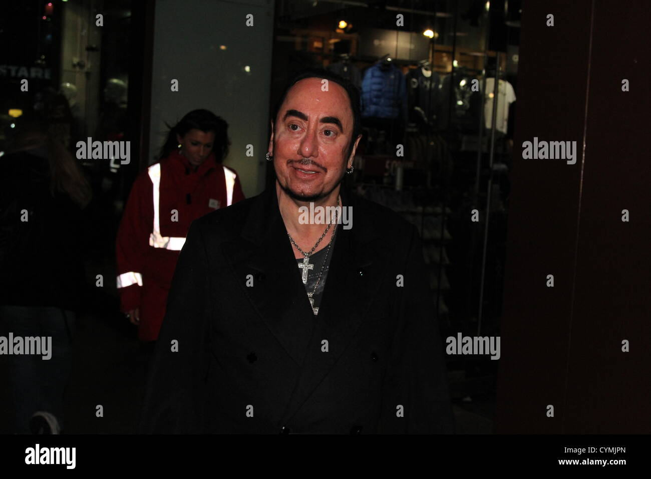 Local and national recognised celebrities attended the launch of Christmas at Liverpool ONE shopping centre in Liverpool, - Stock Image