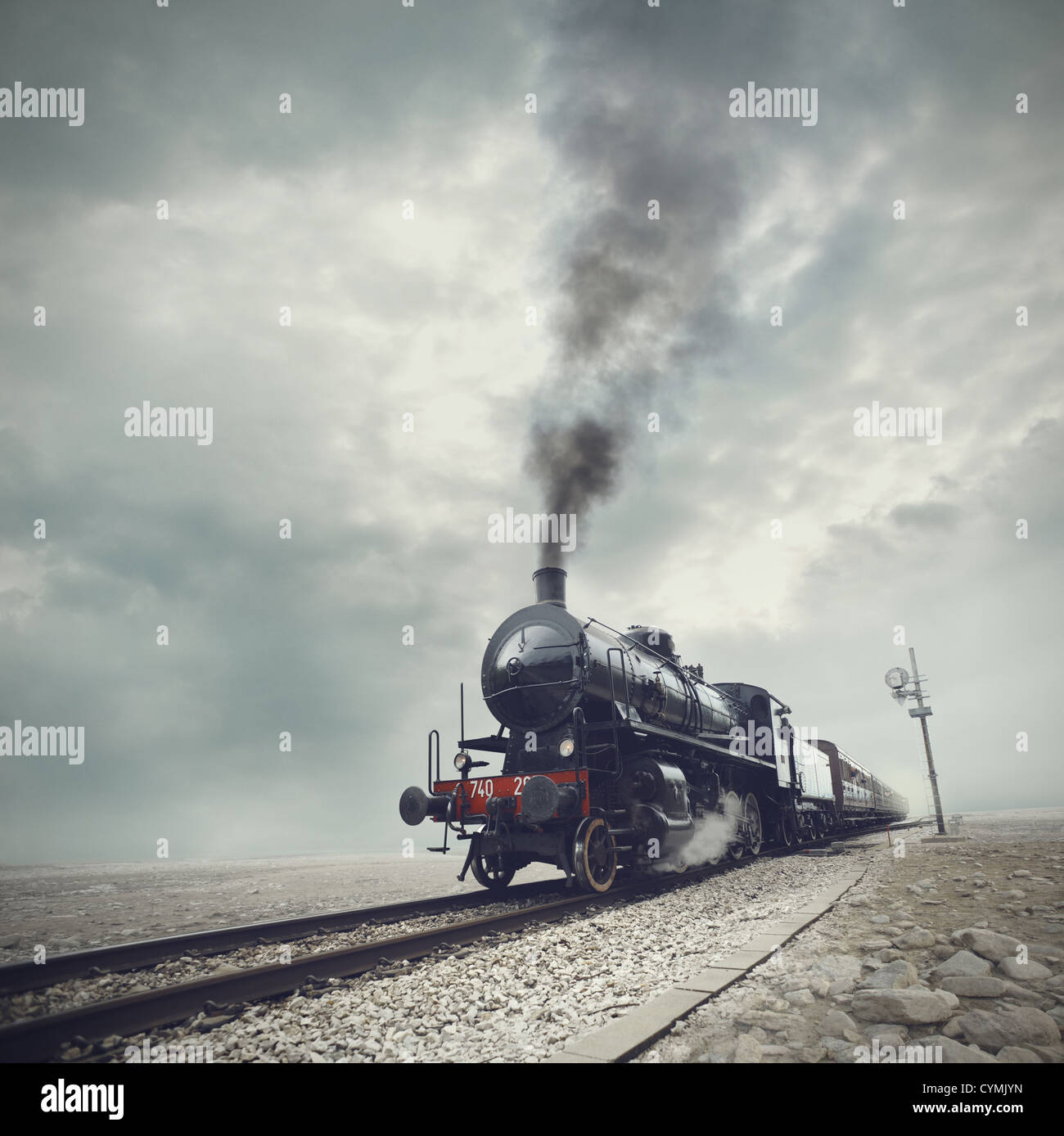 steam engine train - Stock Image