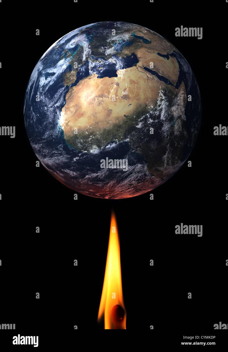 Global Warming theme image/illustration. - Stock Image