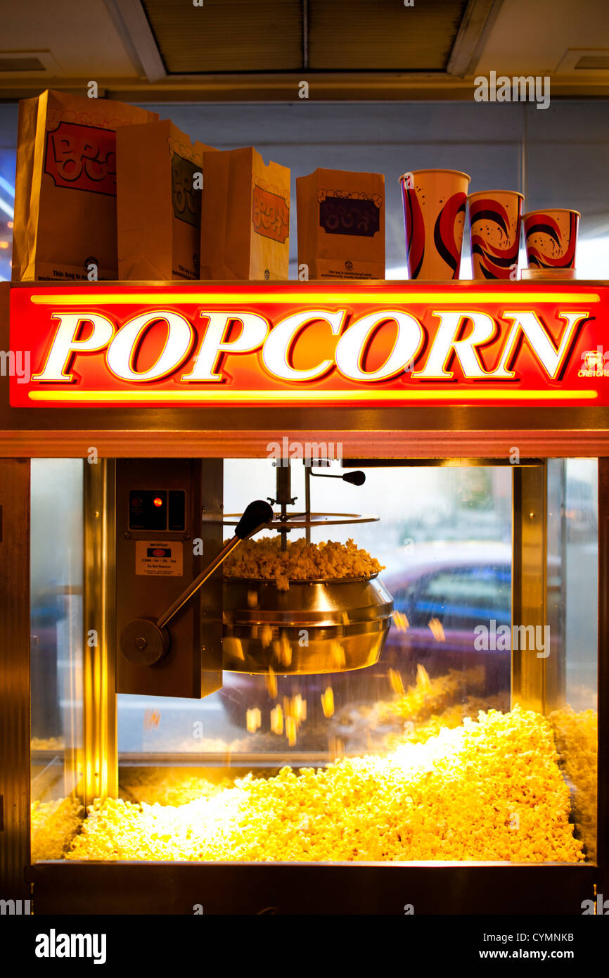 Movie Theater Popcorn Machine High Resolution Stock Photography And Images Alamy