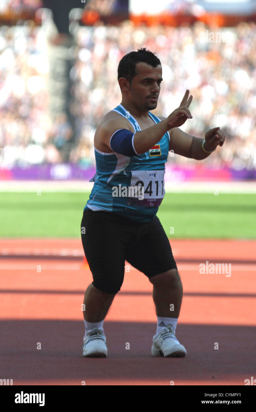 Kovan Abdulraheem of Iraq in the F40 mens javelin in the London 2012  Paralympic games - f2ed55695