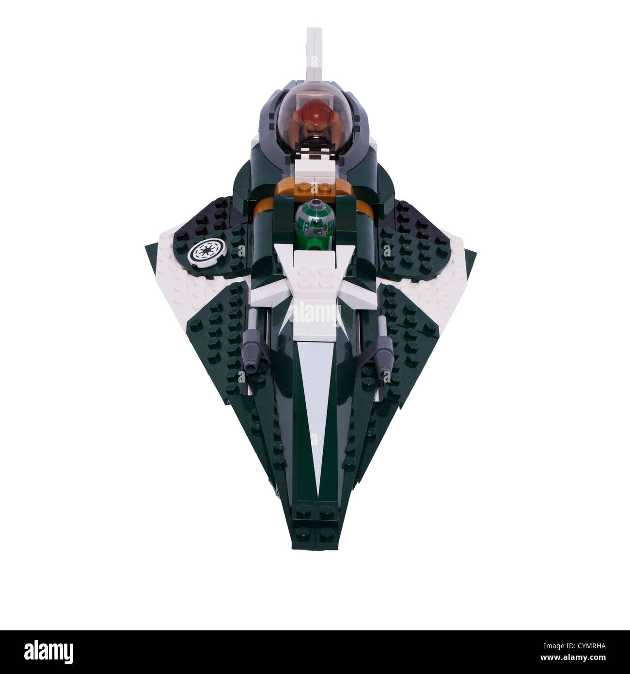 A Lego Star Wars toy on a white background - Stock Image
