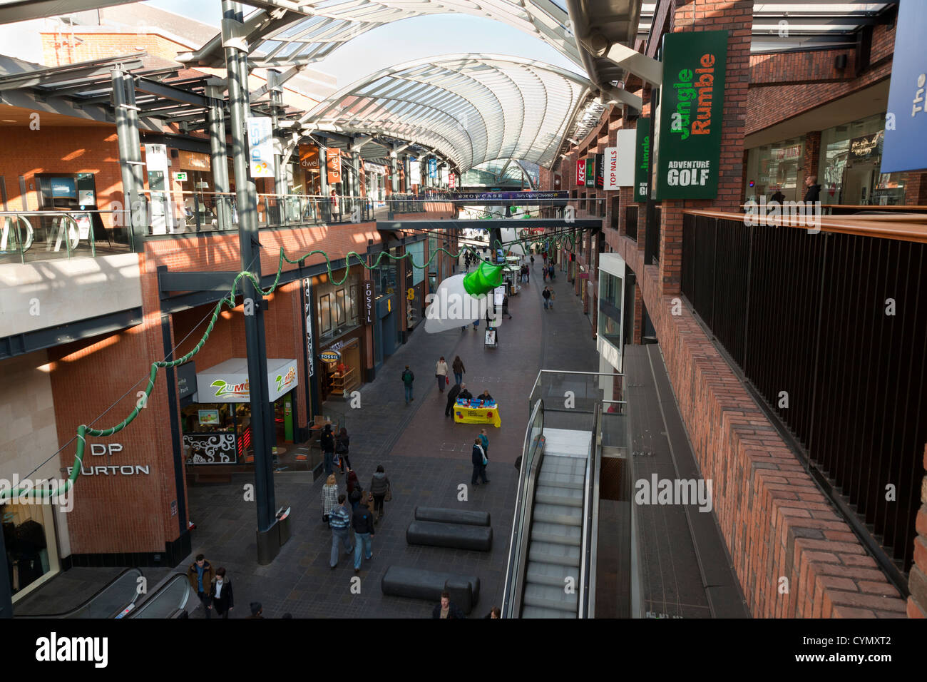 Cabots Circus Shopping Center In Bristol City Center Uk