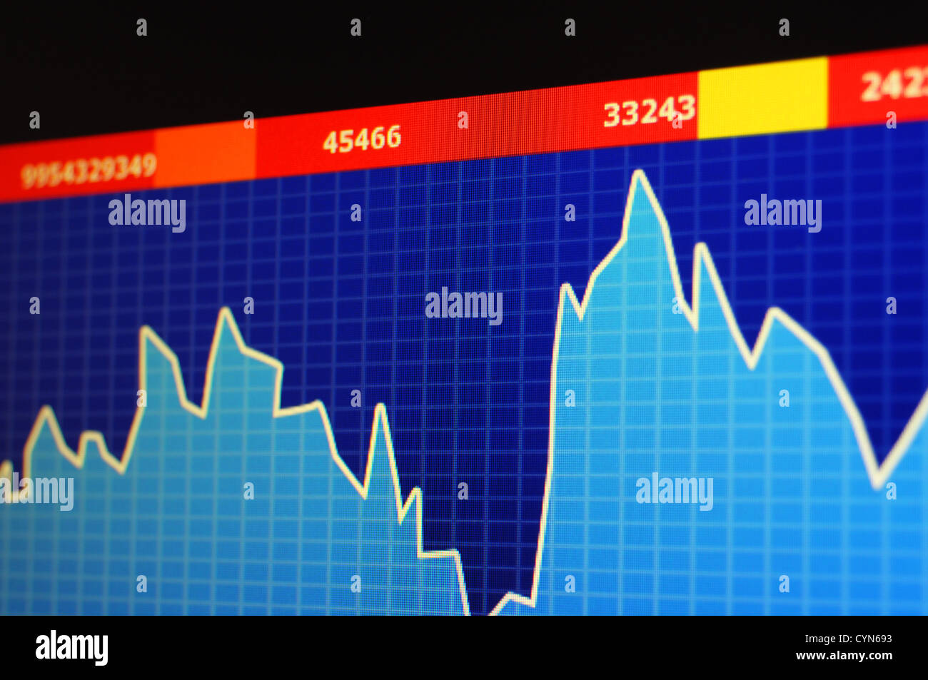 Chart Diagram Or Graph From The Stock Market On Computer Screen Stock Photo Alamy