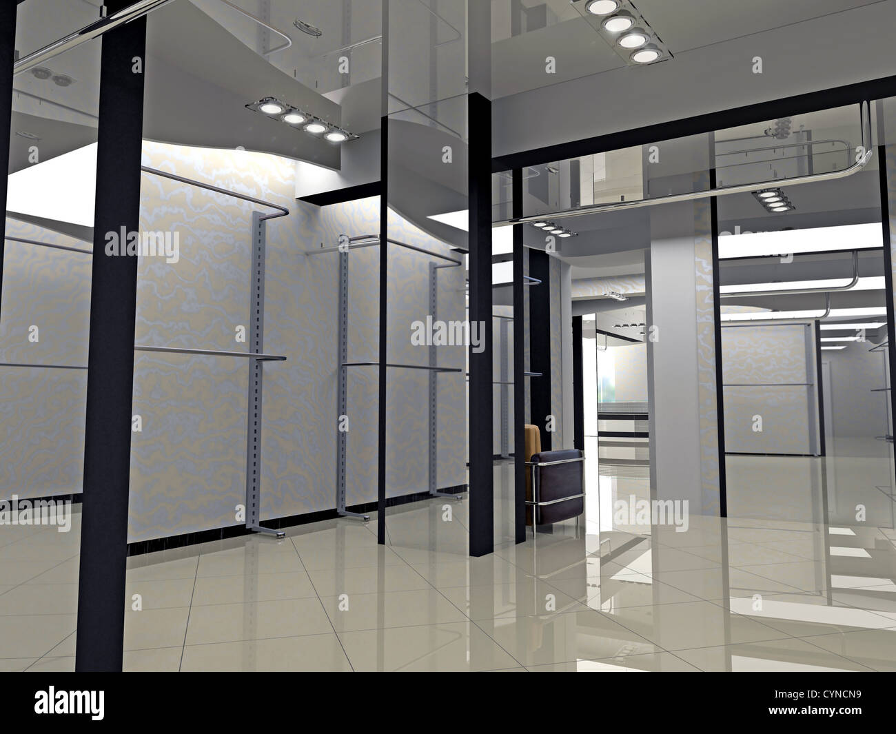 Modern Shop Interior Design Computer Generated Image Stock Photo 51487445 Alamy