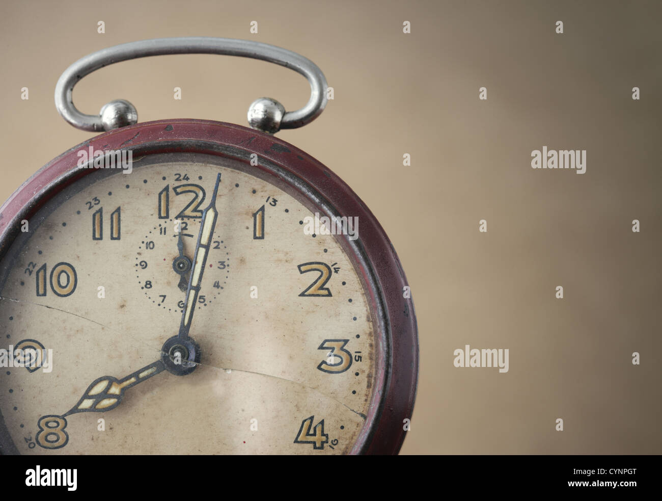 Old Alarm Clock close up - Stock Image