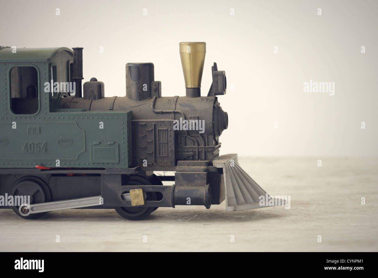 Scale Model of an Old Fashioned Locomotive Steam Train - Stock Image