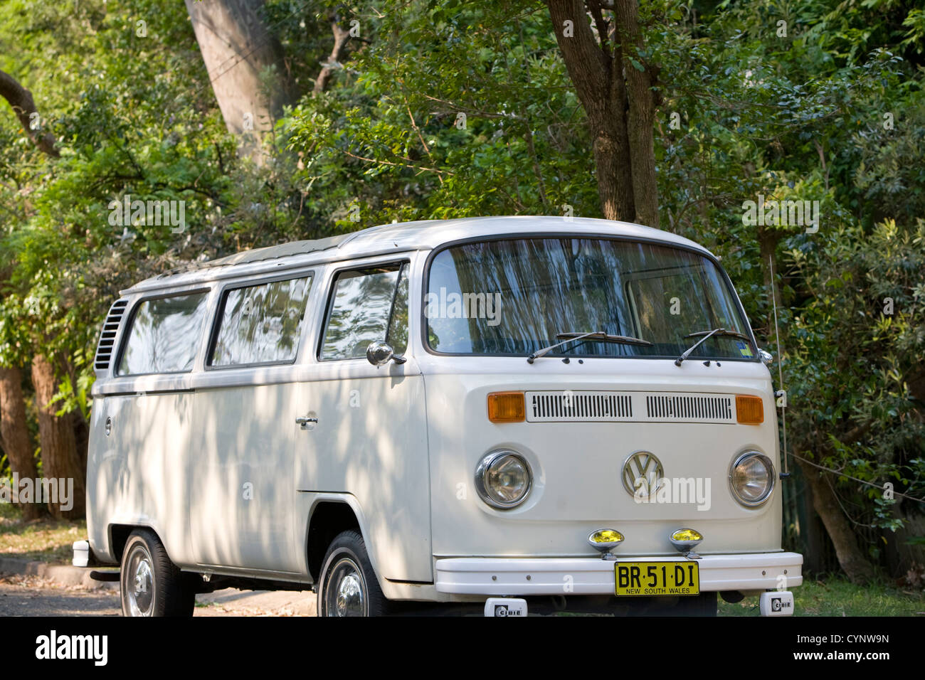 volkswagen vw kombi campervan, famous;y used by surfers and those travelling around australia - Stock Image
