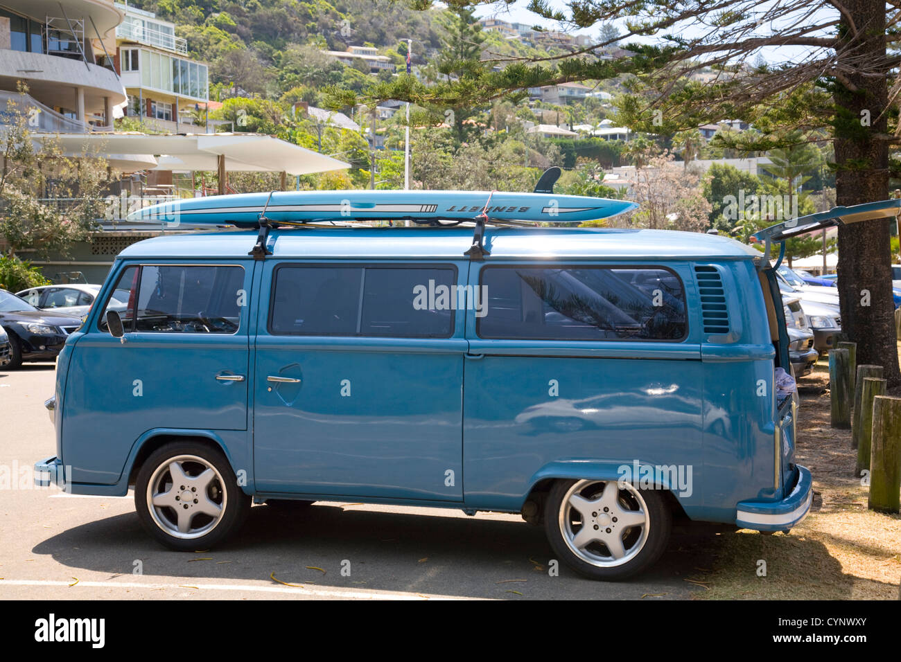 Camper Side View >> volkswagen combi kombi campervan, famous;y used by surfers and those Stock Photo: 51497795 - Alamy