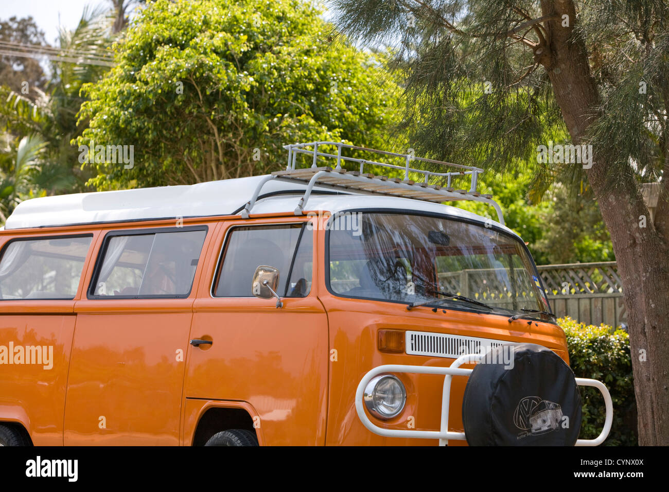 volkswagen vw combi kombi campervan, famously used by surfers and those travelling around australia - Stock Image