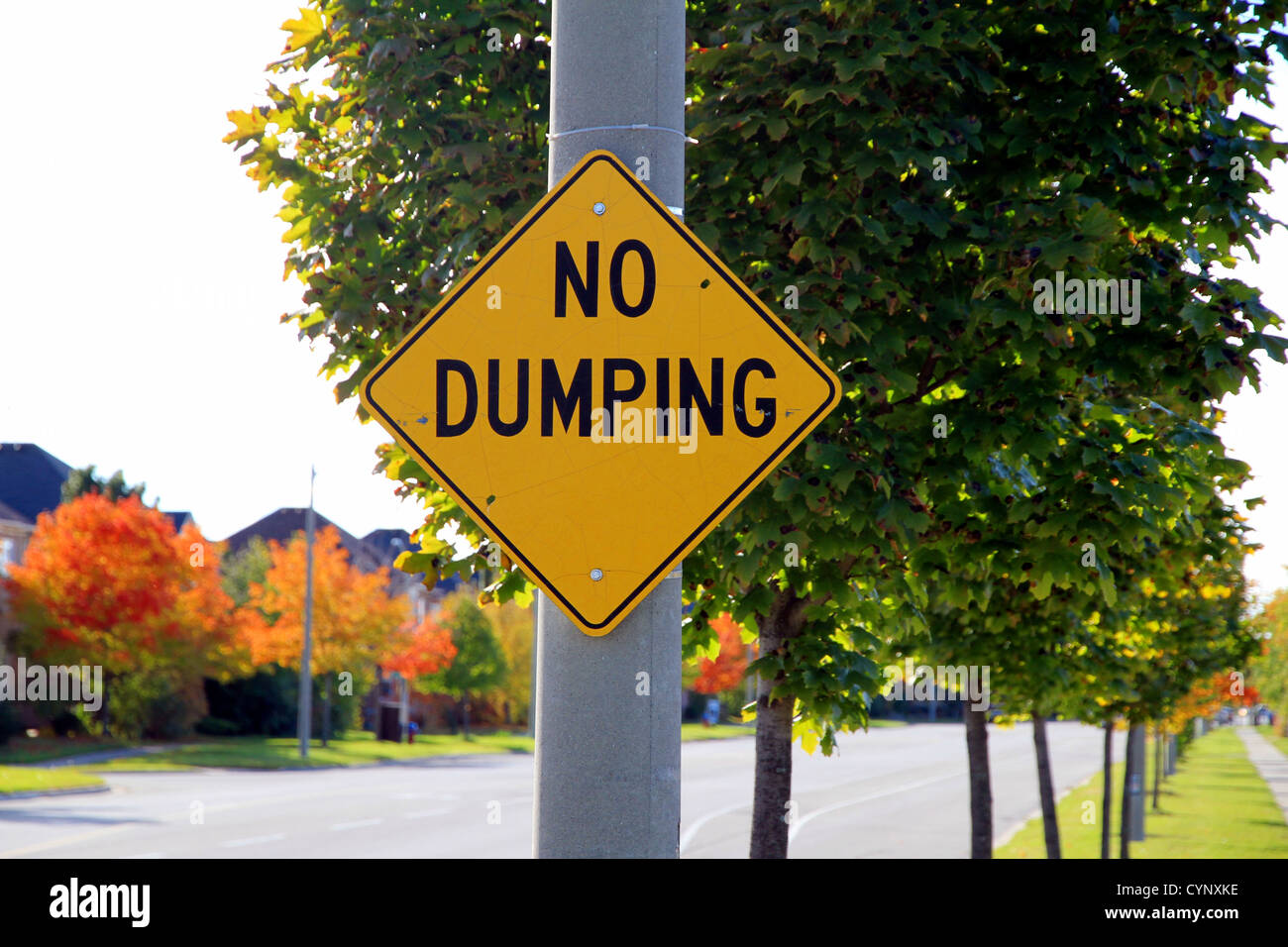 No Dumping Sign - Stock Image