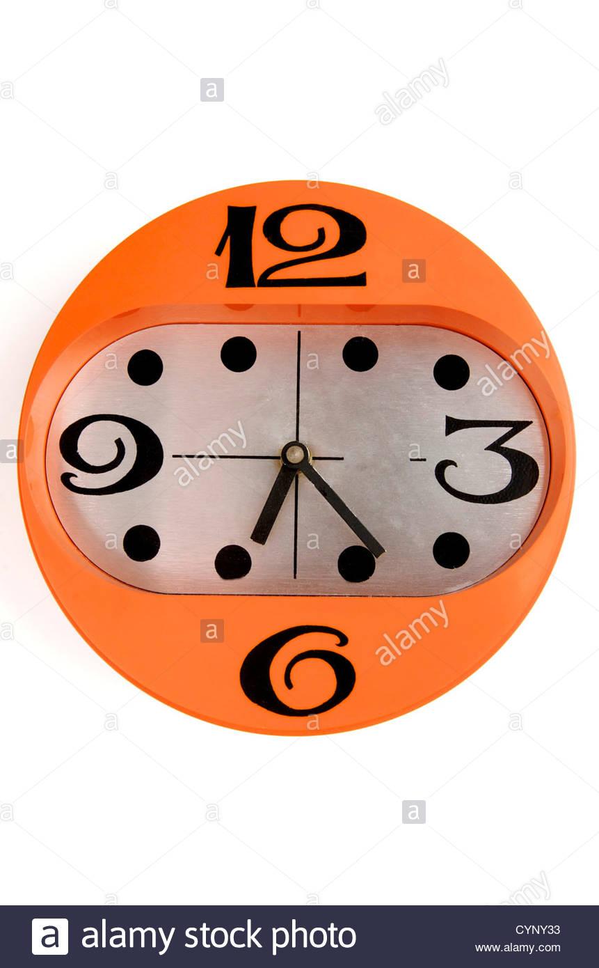 Retro clock - Stock Image