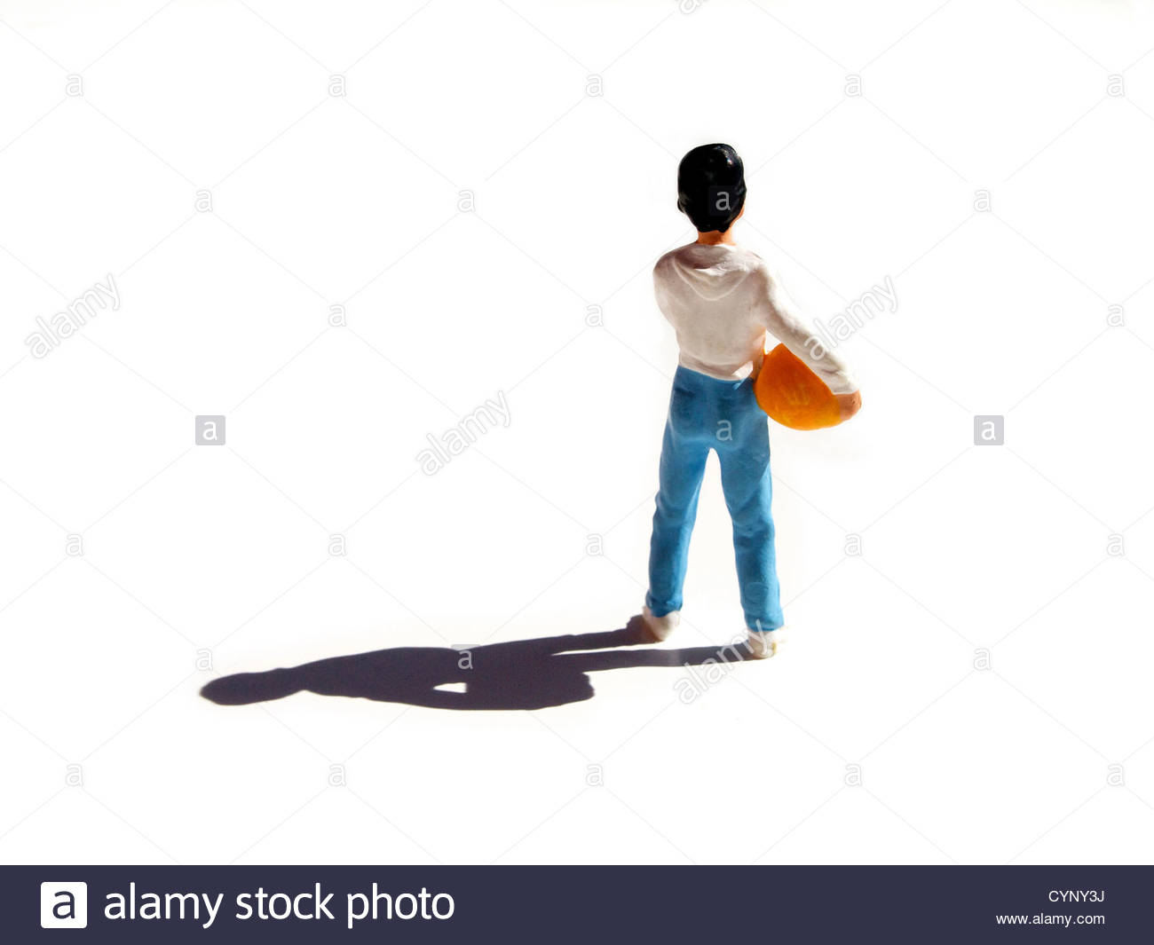 Small toy figure of child Stock Photo