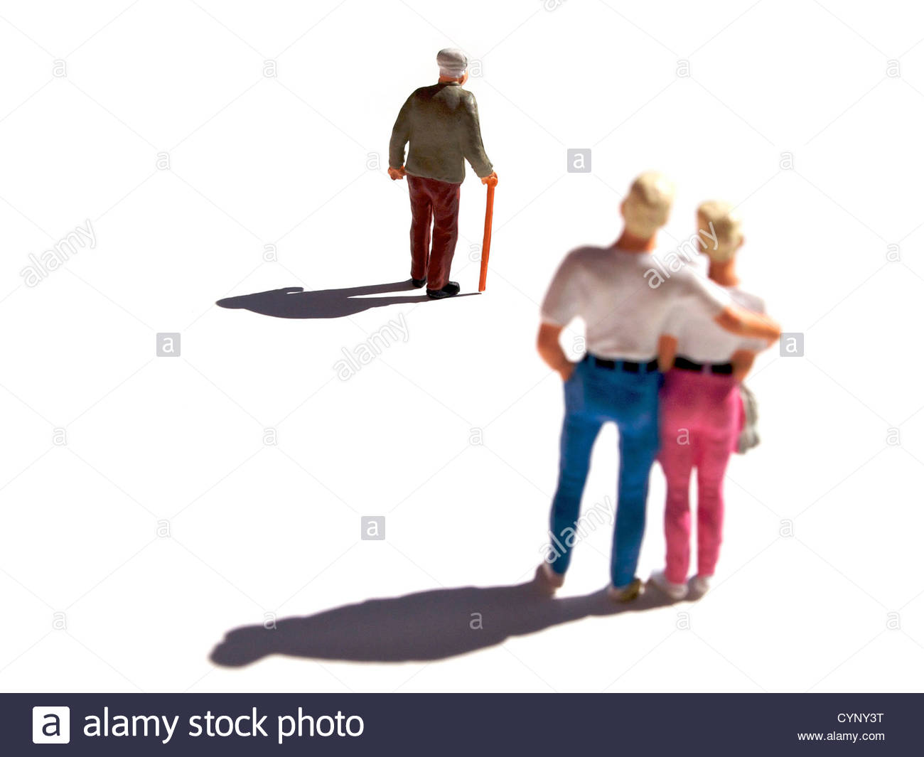 Small toy figures - Stock Image