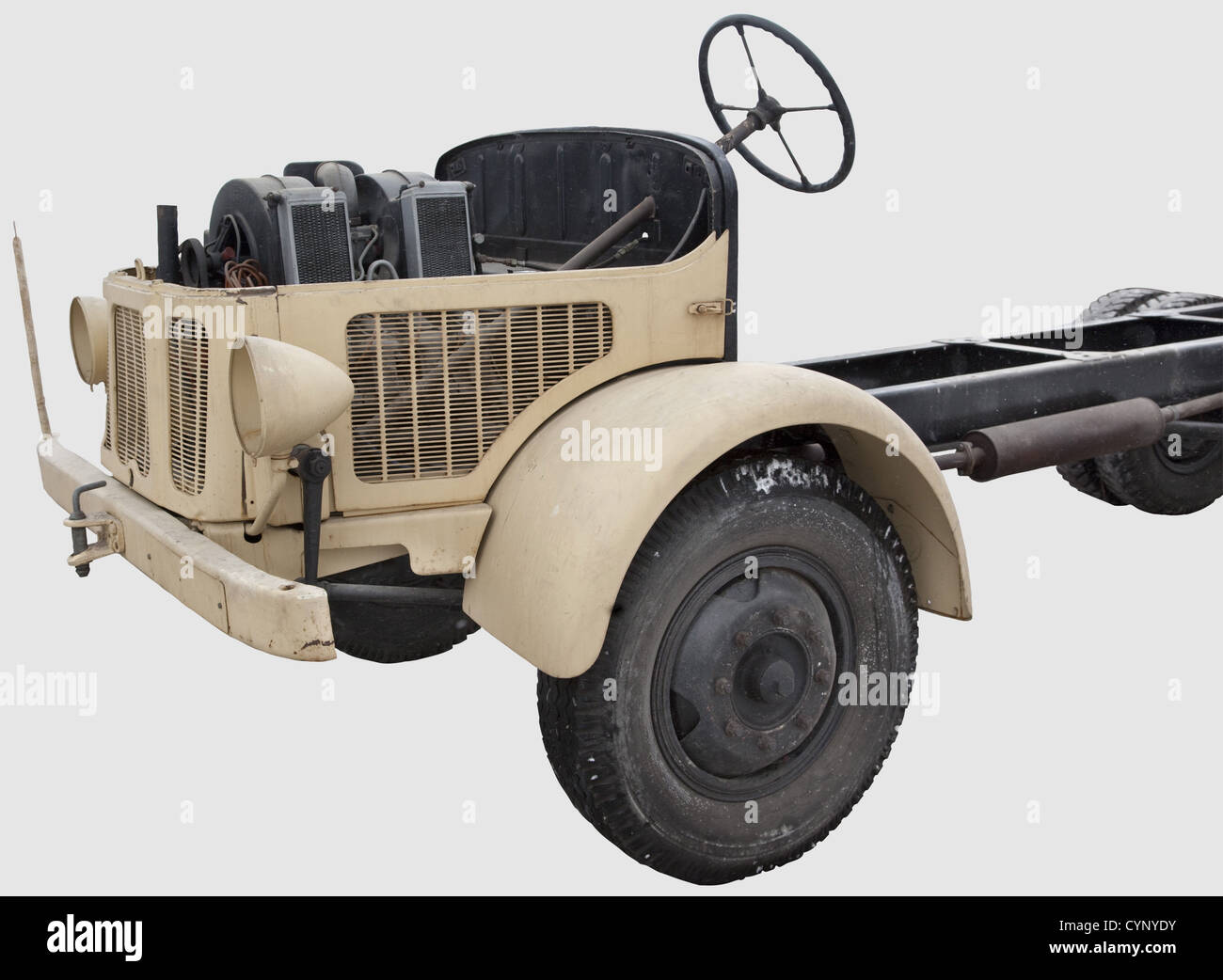 A Steyr type 370 4 x 2 chassis, This chassis and the