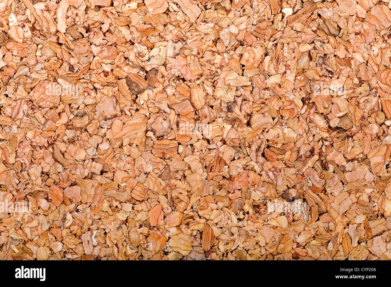detailed cork sheet closeup background - Stock Image