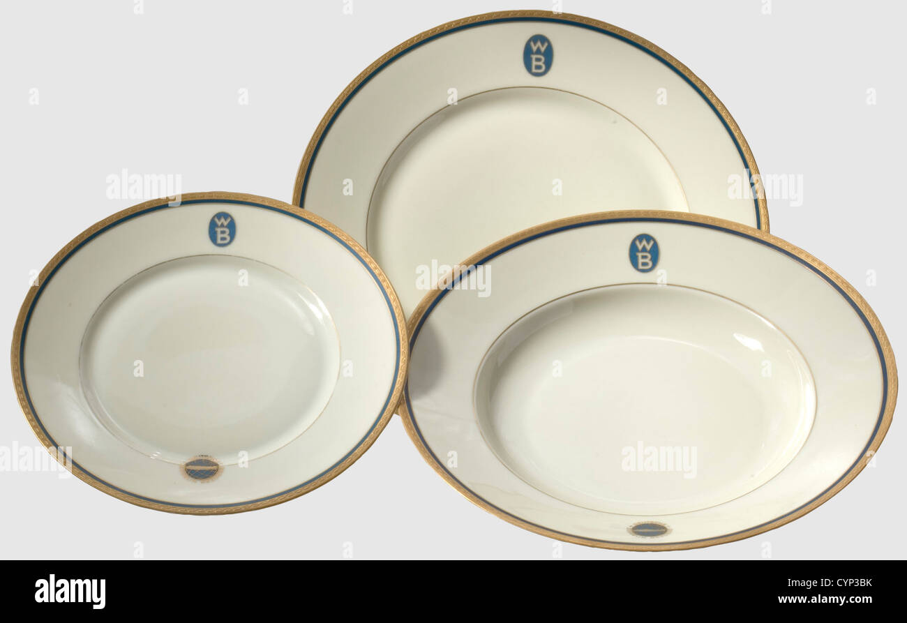 Three plates from the tableware of the German Zeppelin Shipping Line A flat a deep and a dessert plate of ivory coloured gla  sc 1 st  Alamy & Three plates from the tableware of the German Zeppelin Shipping Line ...