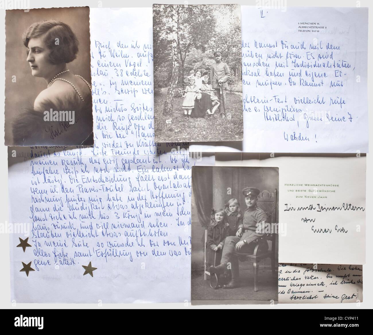 Eva Braun - a signed Christmas card, Printed, with polychrome Stock ...