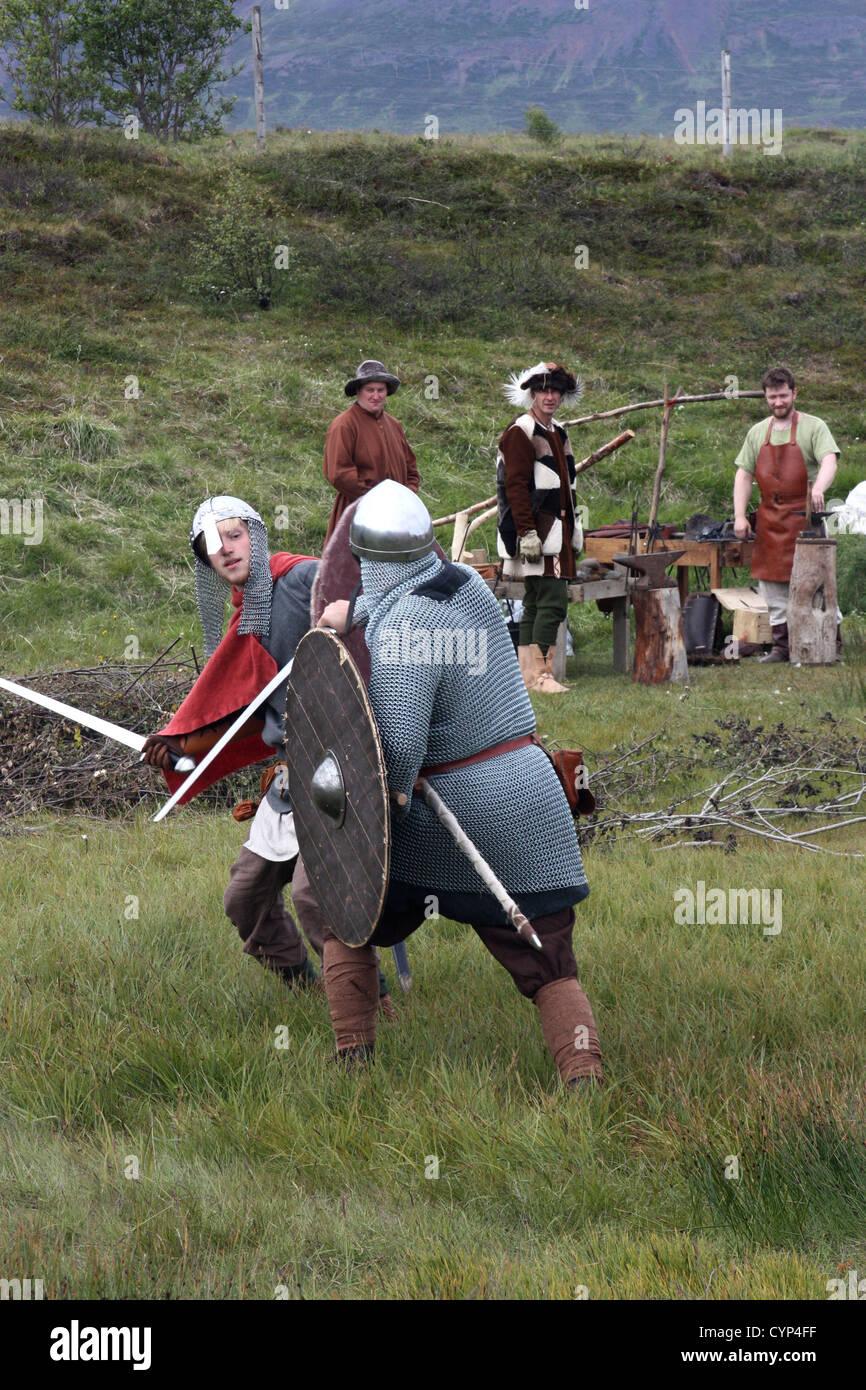 Gasir Viking village , Iceland - Stock Image