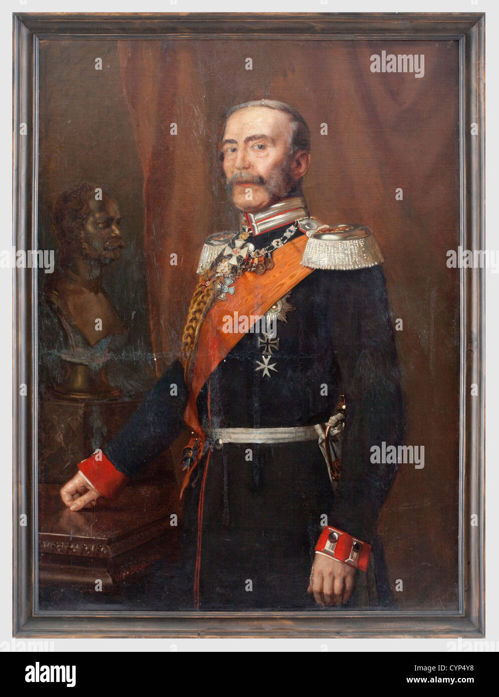 Friedrich Wilhelm Karl von Grabow (1783 - 1868) - a portrait, of the adjutant general of King Wilhelm I. in the - Stock Image