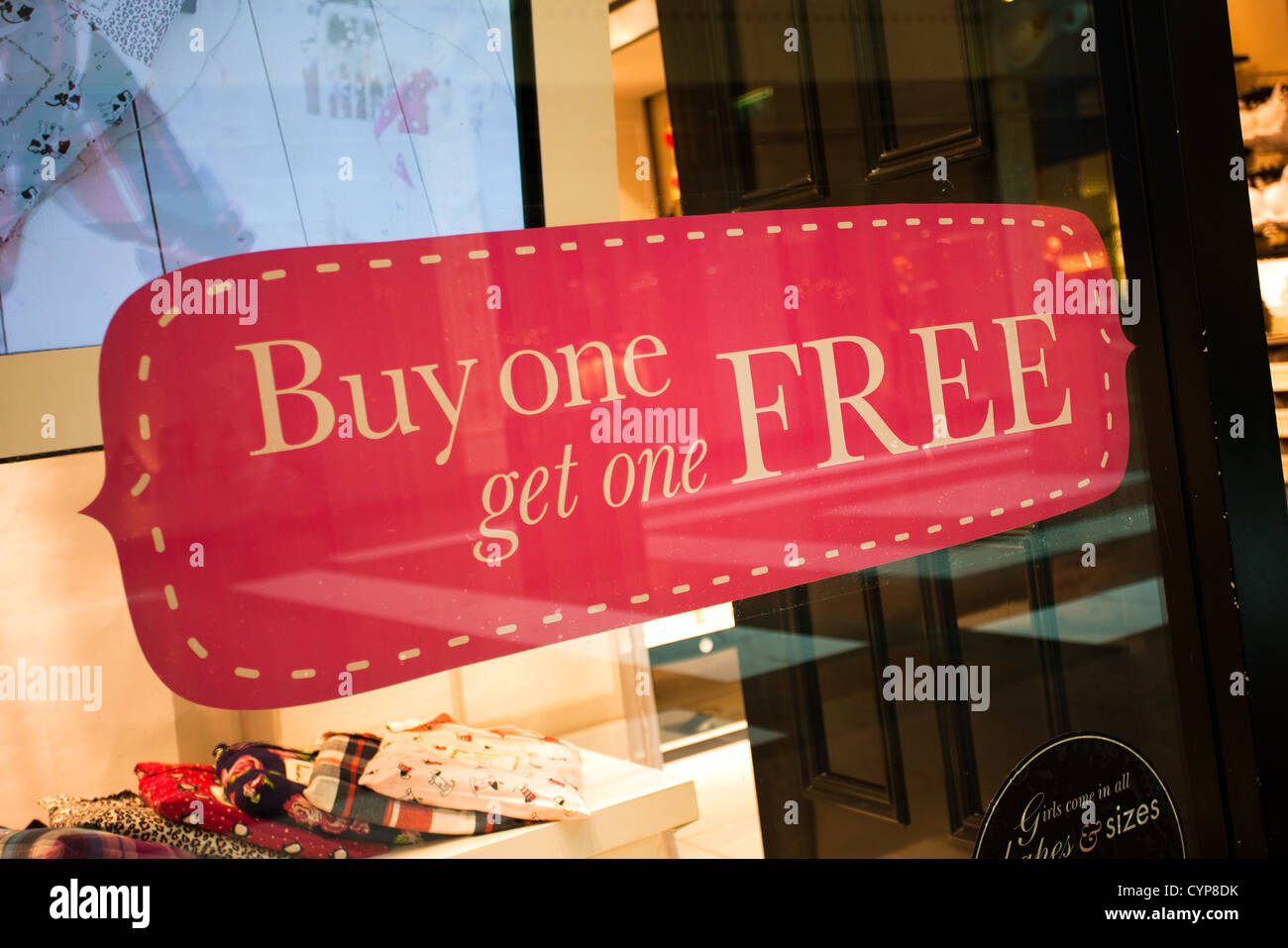 c1d60dc2ff Bogof Buy one Get one Free Signs at Boux Avenue Boutique in Trafford ...